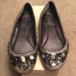 Authentic Coach Denisee Jeweled Flat